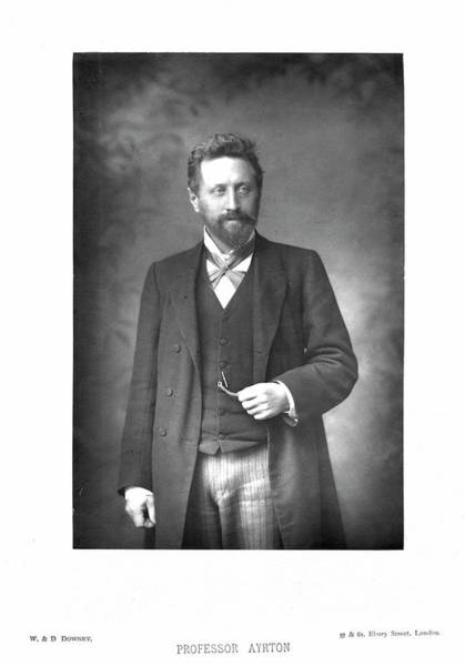 Goatee Photograph - William Edward Ayrton by Universal History Archive/uig