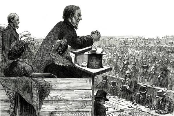 Wall Art - Drawing - William Ewart Gladstone Addressing by  Illustrated London News Ltd/Mar
