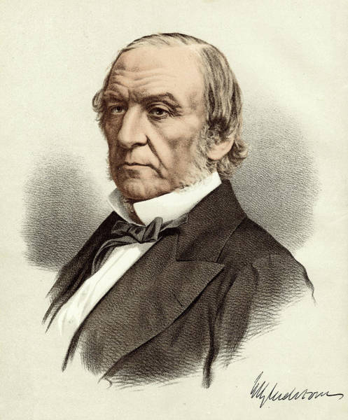 Gladstone Wall Art - Drawing - William Ewart Gladstone  British by Mary Evans Picture Library