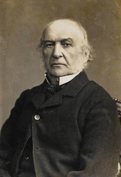 Gladstone Wall Art - Photograph - William Ewart Gladstone  English by Mary Evans Picture Library