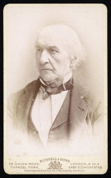 Gladstone Wall Art - Photograph - William Ewart Gladstone  Liberal Mp by Mary Evans Picture Library