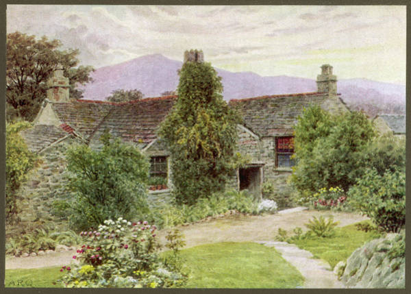 Grasmere Wall Art - Drawing - William Wordsworth  His Home, Dove by Mary Evans Picture Library