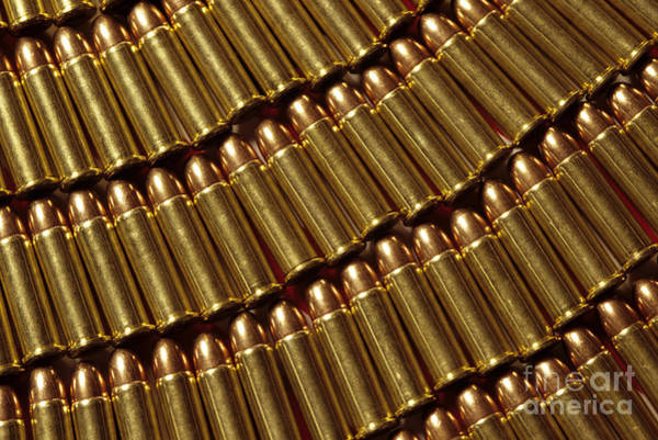Full Metal Jacket Wall Art - Photograph - Winchester Rifle Cartridges by Jim Corwin