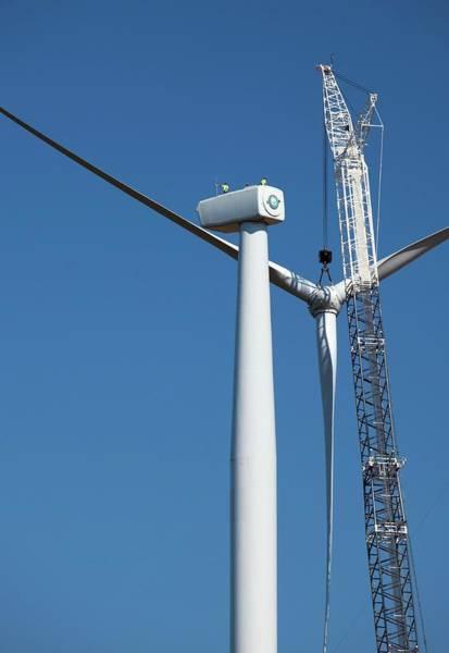 Wind Generator Photograph - Wind Farm Construction by Jim West