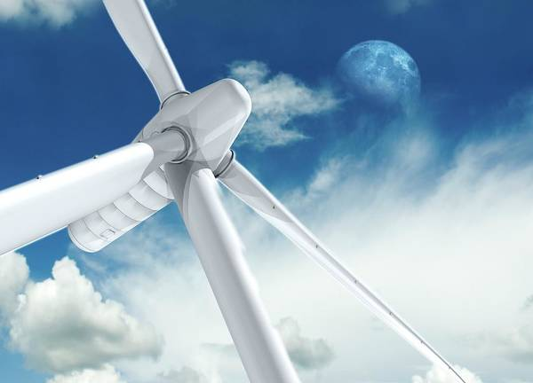 Environmental Issue Wall Art - Photograph - Wind Turbine by Victor Habbick Visions/science Photo Library