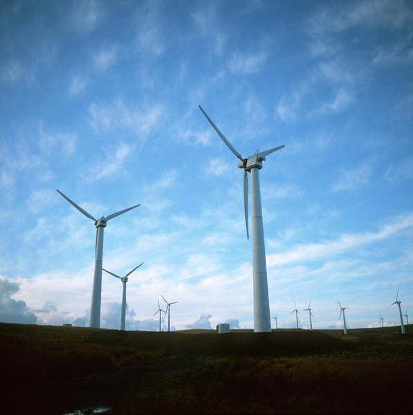 Wall Art - Photograph - Wind Turbines by Robert Brook/science Photo Library