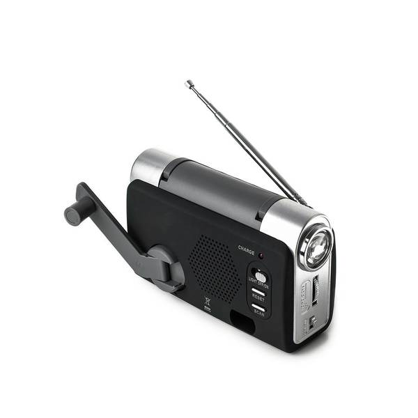 Crank Photograph - Wind-up Radio And Torch by Science Photo Library