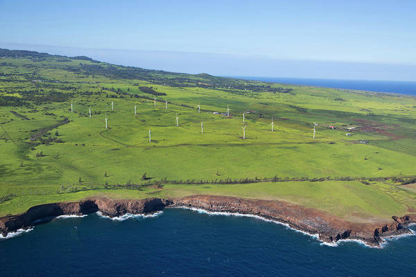 Windmills, North Kohala, Big Island Art Print