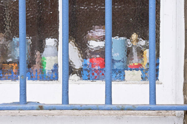Frosted Glass Photograph - Window Bars by Tom Gowanlock