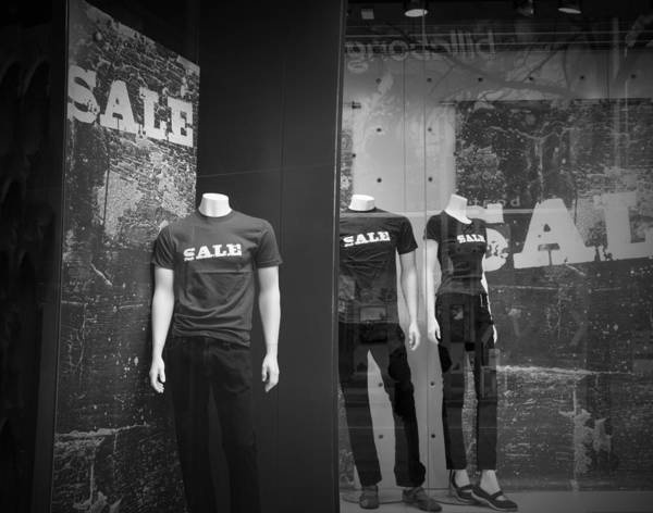 Photograph - Window Display Sale With Mannequins No.0112 by Randall Nyhof