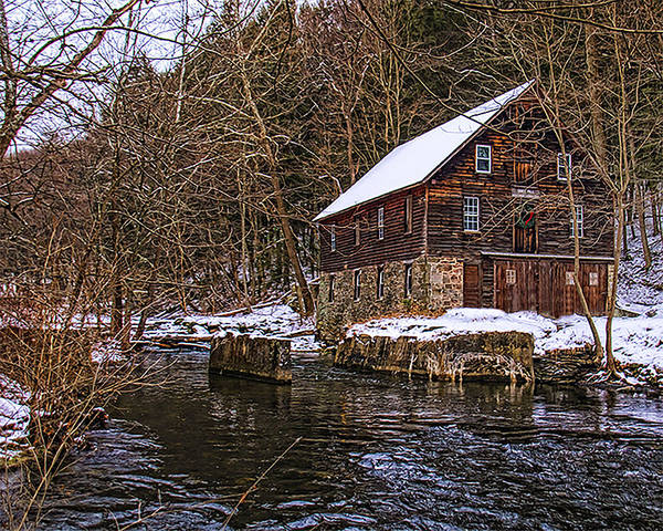 Wall Art - Photograph - Winter At Kerrs Mill by Dave Sandt