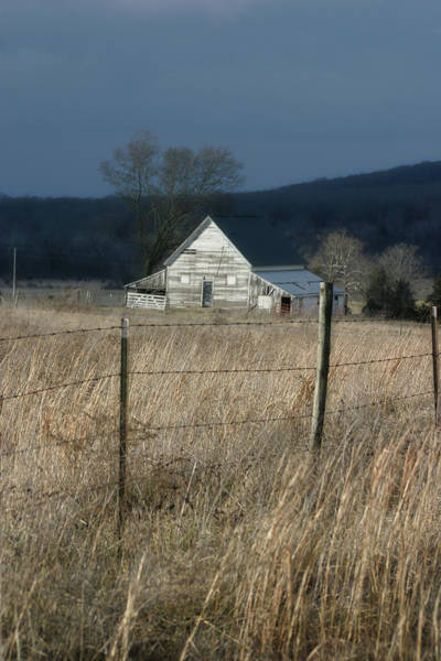 Photograph - Winter Barn by CE Haynes