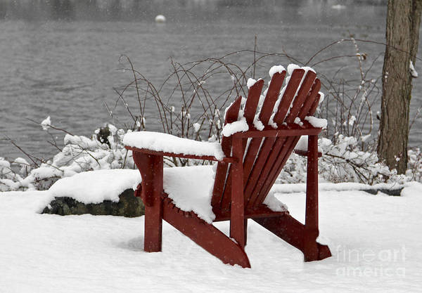 Photograph - Winter Chair by Karin Pinkham