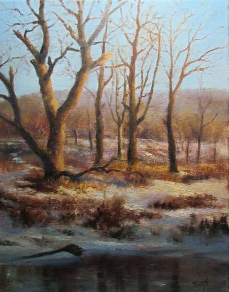 Pastel - Winter Marsh And Beyond by Bill Puglisi