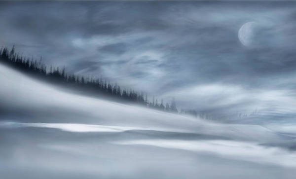 Blur Wall Art - Photograph - Winter Night by Heidi Westum
