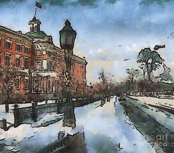 She Mixed Media - Winter Peterburg Russia by Yury Bashkin
