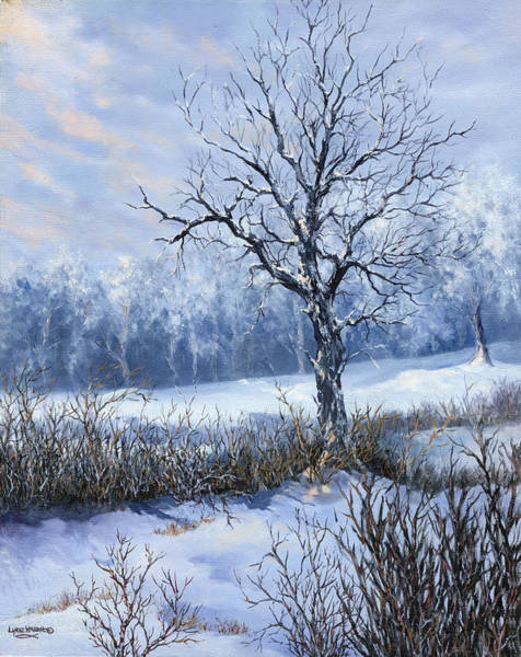 Frost Bank Painting - Winter Slumber by Lynne Wright