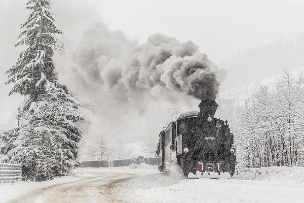 Steam Engine Photograph - Winter Story by Sveduneac Dorin Lucian