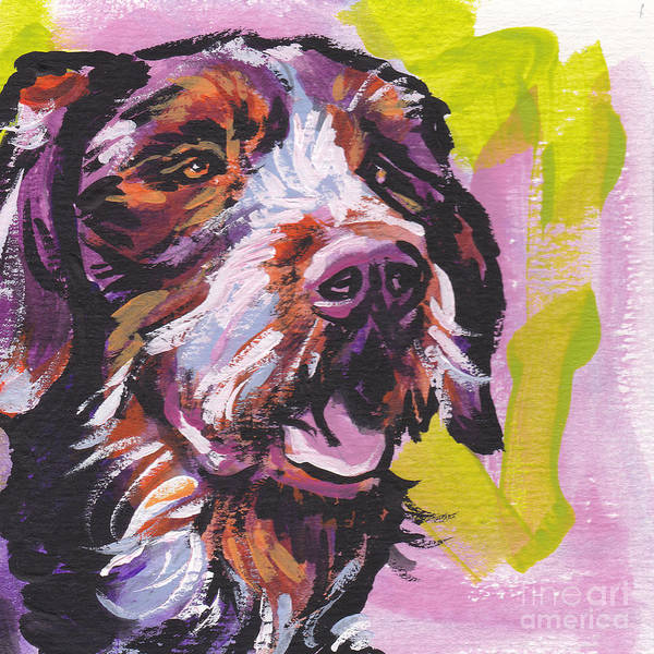 German Pointer Painting - Wired by Lea S