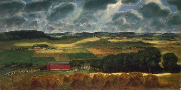 Central America Painting - Wisconsin Landscape by John Steuart Curry