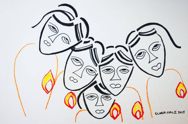 Bridesmaids Painting - Wise Virgins by Gloria Ssali