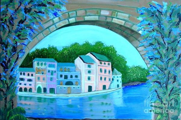 Painting - Wisteria Bridge by Laurie Morgan