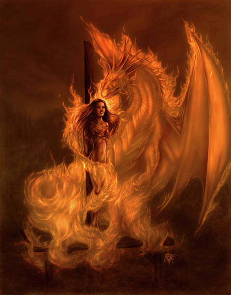 Wall Art - Painting - Witchburn by MGL Meiklejohn Graphics Licensing