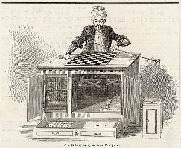 Wall Art - Drawing - Wolfgang Von Kempelin's Automaton Chess by  Illustrated London News Ltd/Mar