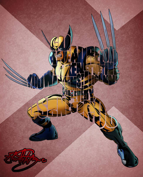 Wolverines Drawing - Wolverine by Ehud Shomron