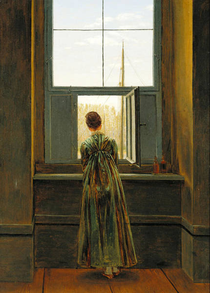 Painting - Woman At A Window by Celestial Images