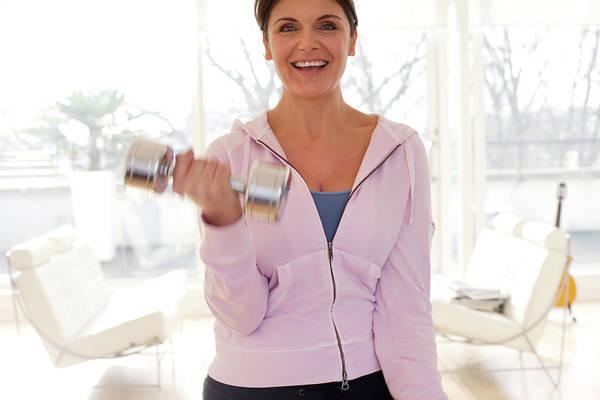 Woman Exercising Art Print