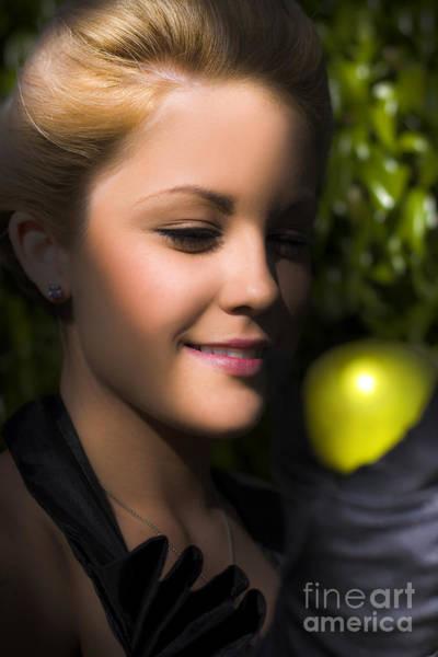 Wall Art - Photograph - Woman Holding Apple by Jorgo Photography - Wall Art Gallery