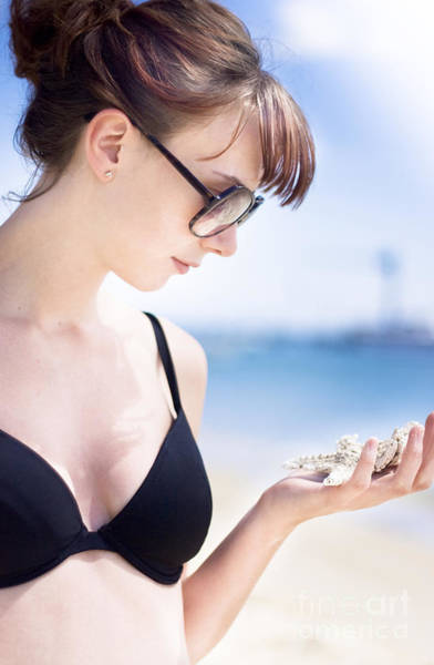 Athletic Photograph - Woman Holding Marine Life by Jorgo Photography - Wall Art Gallery