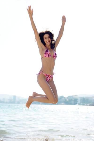 Woman Jumping Art Print