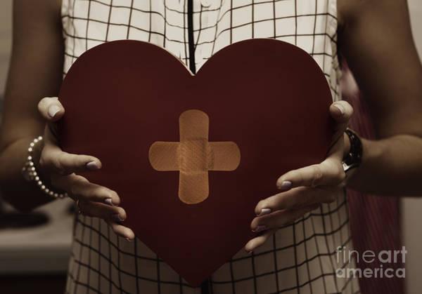 Heal Photograph - Woman Nursing Broken Heart From Divorce by Jorgo Photography - Wall Art Gallery