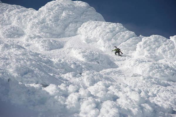 Gulf Of Alaska Photograph - Woman Skier Climbs Through Thick Rime by HagePhoto