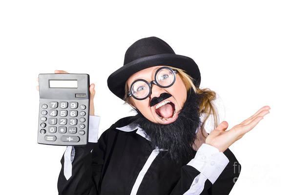 Fraud Photograph - Woman Tax Accountant by Jorgo Photography - Wall Art Gallery