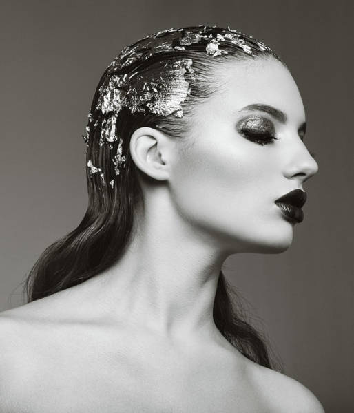 Make Up Photograph - Woman With Foil Hairstyle by Lambada