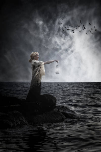 Beautiful Woman Photograph - Woman With Lantern by Joana Kruse