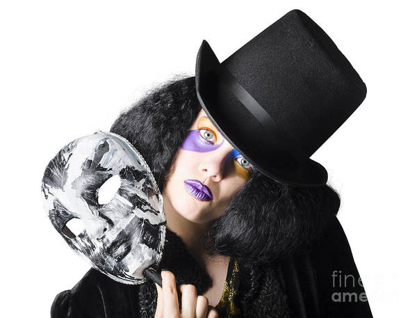 Black Magic Woman Wall Art - Photograph - Woman With Mask by Jorgo Photography - Wall Art Gallery