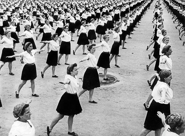 Czechoslovakia Photograph - Women Doing Physical Culture by Underwood Archives