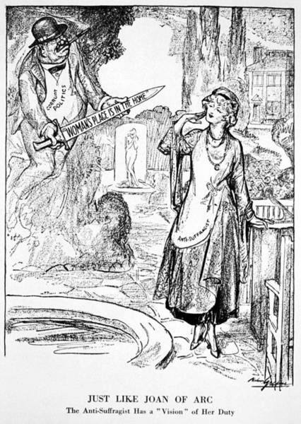 Painting - Women's Rights Cartoon, 1915 by Granger