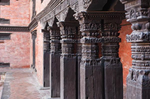 Photograph - Wooden Column At Durbar Square by U Schade