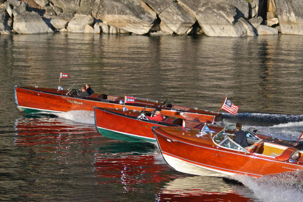Photograph - Wooden Runabouts On Lake Tahoe by Steven Lapkin