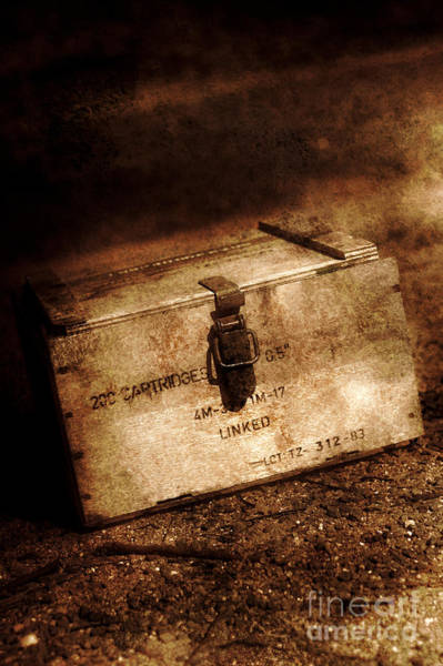 Photograph - Wooden Small Arms Cartridge Box by Jorgo Photography - Wall Art Gallery