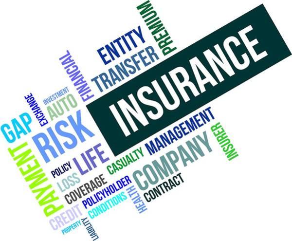 Insurance Digital Art - Word Cloud - Insurance by Amir Zukanovic