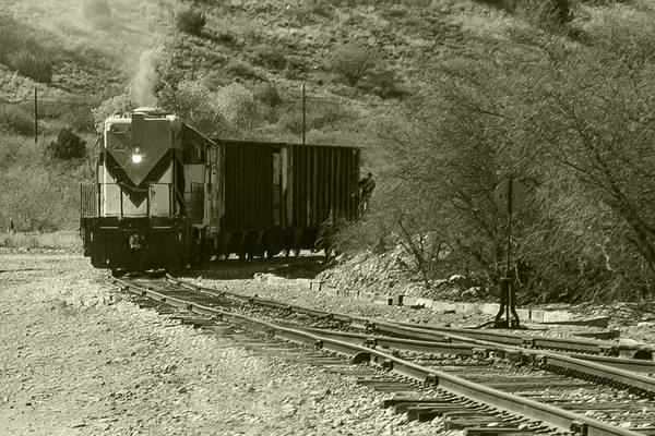 Photograph - Work Train In Clarkdale Arizona by Jim Moss