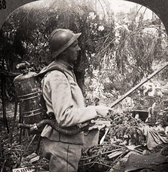Wall Art - Photograph - World War I Flamethrower by Granger