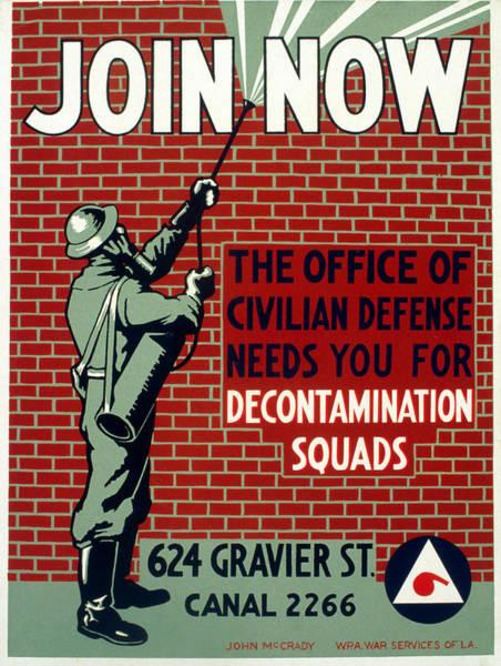 Federal Triangle Wall Art - Photograph - World War II Poster, C1943 by Granger