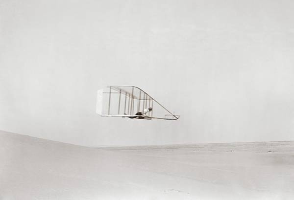 Big Sandy Photograph - Wright Brothers Kitty Hawk Glider by Library Of Congress